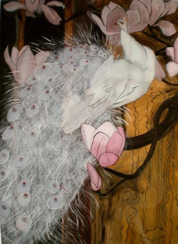 Peinture sous verre - les oiseaux de Jessy Arms Botke. Annie Saltel Annie Saltel