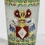 Wappenbecher Historismus um 1880, «Baron et Com. De Graveneck 1650».. Thomas Kern