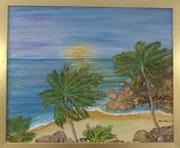Las palmeras y el mar.