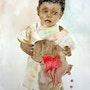Aquarelle hommage a tous les enfants du monde. Yokozaza