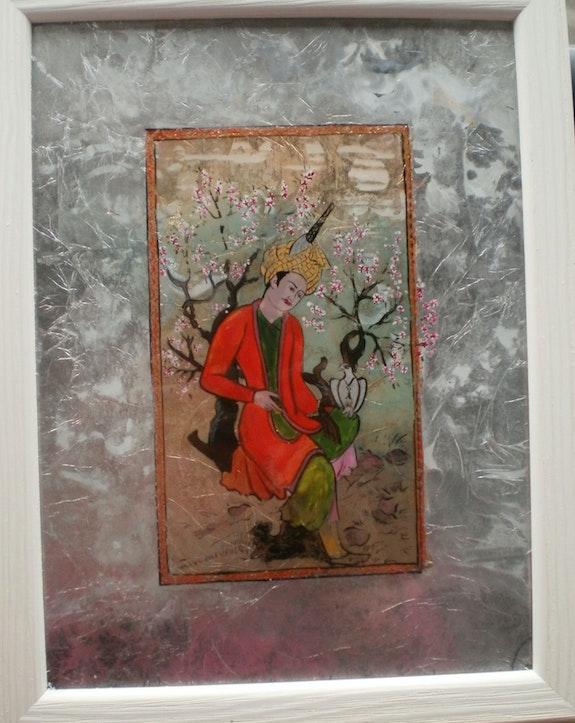 Peinture sous verre - une idée derrière le verre. Annie Saltel Annie Saltel