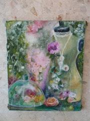 Mannequin aux fleurs. Henriette Capretti