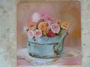 La bouilloire aux fleurs.