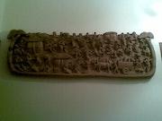 Une sculpture gravure. Chercheur Prehistoire