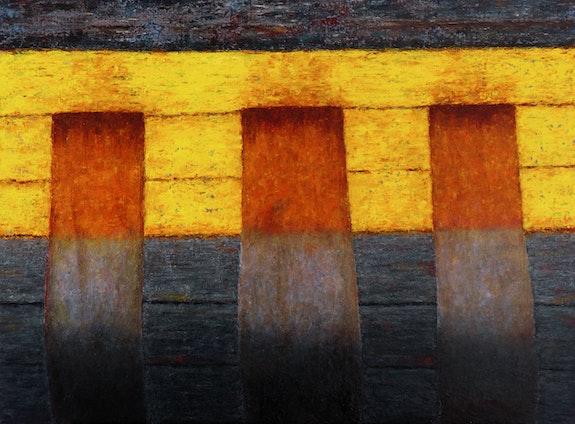 Flanc jaune / Yellow sideboard. Claude Guillemet Claude Guillemet