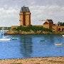 Le port de Solidor, Saint-Malo. Claude Guillemet