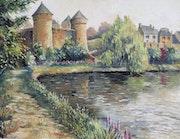 Chateau de Lassay par matin cotoneux.