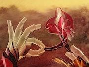 Les tricoteuses de fleurs.