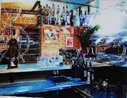 Intérieur de restaurant. Gilbert Verani