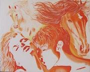 Passionnante rencontre fusionnelle, n°296 08/2014. Jean Claude Ciutad-Savary. Artiste Peintre