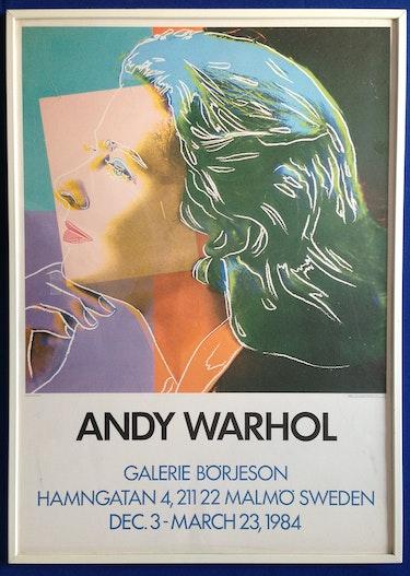 Andy Warhol: Ausstellungsplakat/Offsetdruck «Ingrid Bergmann» 1984. Thomas Kern