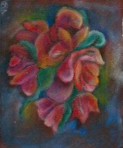 Bouquet d'anémones aux couleurs vives.