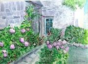 Maison fleurie en Bretagne.