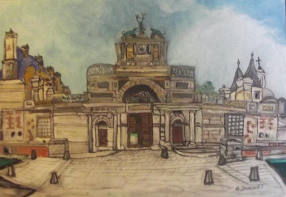 Entrée du Château Diane de Poitiers Anet 28260. Duguet Gilles Gilles Duguet