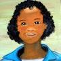 L'écolière malgache. Christiane Thiébaud-Fournier