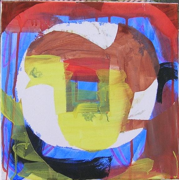 Arrache moyeux 7.50x50cm, gouache sur toile, 2011. Melanie Bide Chez Moi, Chez Toi