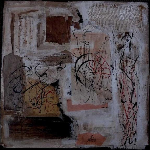 Désir, 40 X 40 cm, technique mixte,. Lisa Mazzoni Chez Moi, Chez Toi