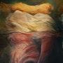 Siamoises, 80 X 100 cm, technique mixte et huiles sur toile,. Chez Moi, Chez Toi