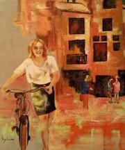 Juliette et son vélo.