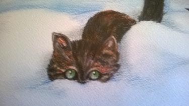 À chat caché détail. Mariraff