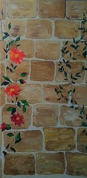 Le vieux mur de pierres.