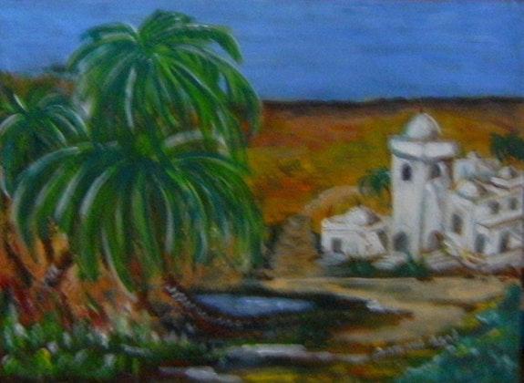 Une oasis. Damane Agal Damane
