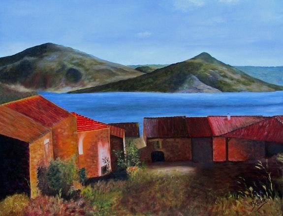Les Vailhes au bord du Salagou. Maryse Bessière Maryse Bessière