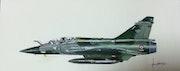 Mirage 2000d Spa 102 du 2/3 de Nancy ochey. Forangeart F. Baldinotti Peintre De l'air