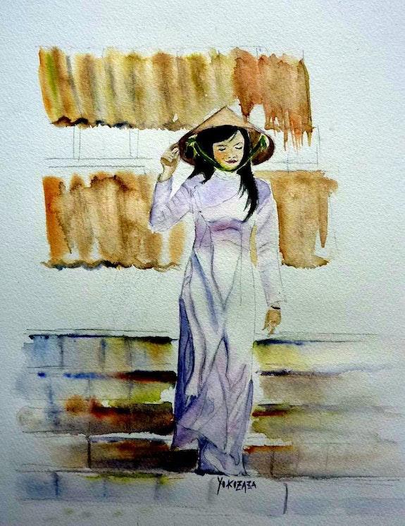 Une femme vietnamienne, la feminité. Yokozaza Yokozaza