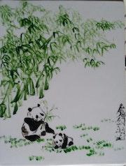 Panda à la cantine.