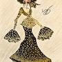 Dessin de mode d'un projet de haute couture. Stanislas Jung