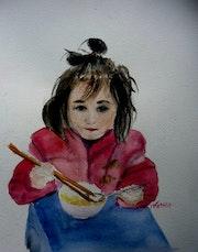 Manger avec des baguettes, un jeu d'enfant. Yokozaza
