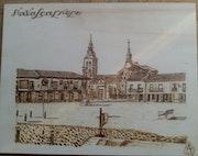Plaza de Segovia Navalcarnero. Antonio Florido & Eva Fernandez Pirograbados