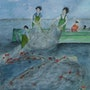 Les pêcheurs. Ghislaine Phelut