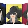 Triptyque «Lunettes 1, Lunettes 2, Lunettes 3» acrylique sur toile.. Amira (Nom d'artiste)
