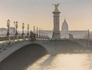 «Contre-jour sur le Pont Alexandre iii» - «Against the light on the Alexandre II.