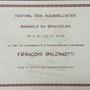 Nomination au prix de la commune du concours Bagnole 2015. Forangeart F. Baldinotti Peintre De l'air