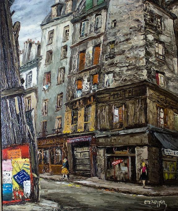 Paris, la rue des Lombards.. Emile Boyer Stanislas Jung