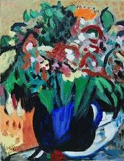 «Le vase bleu» petit format 5f.