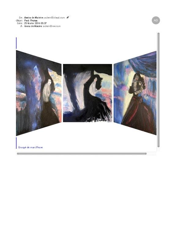 Triptyque Femmes déjà sur le site.  Amira (Nom d'artiste)