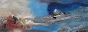 Cristal naissant, 25 X 64 cm, huile sur bois. Chez Moi, Chez Toi