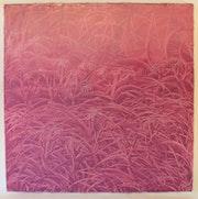 Un matin se lève, 100 X 100 cm, huile sur toile, 2013,.