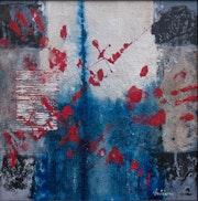 Pregaria, 50 X 50 cm, technique mixte sur toile,.