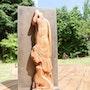 Silfo, escultura de caoba de Cuba. Françoise Faucher-Moreau