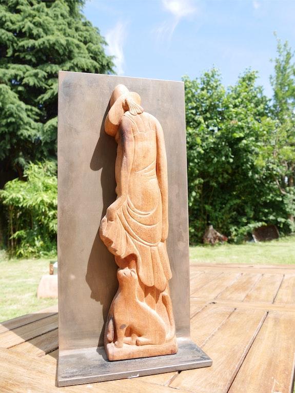 Sylphe, Sculpture en acajou de Cuba. Cédo Françoise Faucher-Moreau
