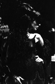 Black dahlia at Christian dior 1982.. Baxter