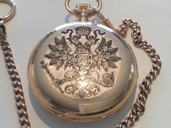 Geschenkuhr Zar Alexander III von Rußland, Hoflieferant Pavel Bure, 1887!.  Thomas Kern