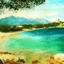 La plage des tamaris devant la tour. Claude Beretti