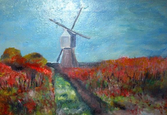 Le moulin dans le vignoble. Yvon Couchouron Yvon Couchouron