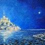Nuit de pleine lune sur le Mont Saint Michel. Stephan Serais
